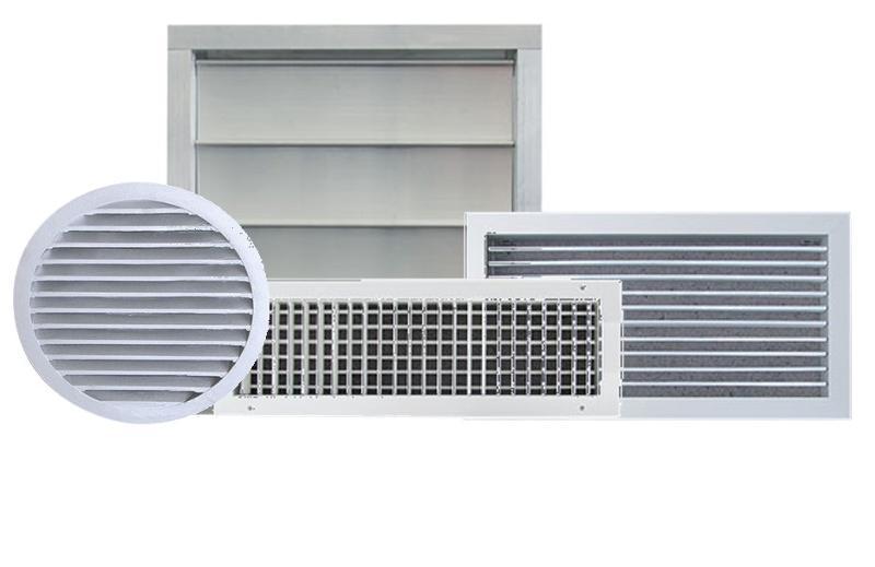 Grille de soufflage ou reprise, extérieur - Ventilation générale