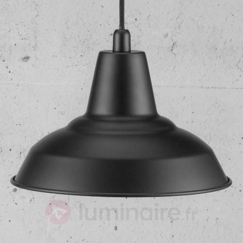 Suspension métallique noire Lyne - Cuisine et salle à manger
