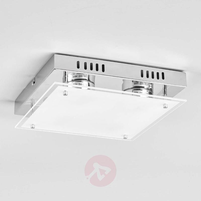 Square LED ceiling light Bjarne - Ceiling Lights