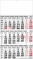 Calendriers 3 Mois - 3 Mois classic gris