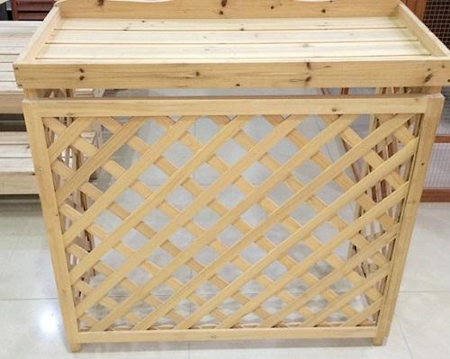 Wooden cover of air conditioner external unit - Wooden material, air condition cover