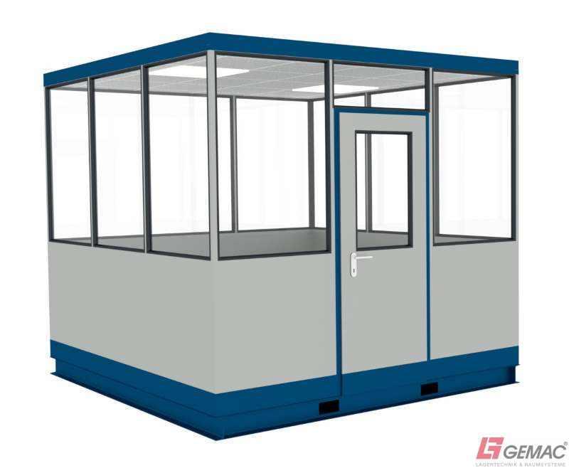 Hallenbüro freistehend auf Gabelstaplerpodest - GTIN/EAN: 40 44944 60001 4