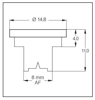 Buse à jet plat bas volume QS80° céramique - Buse à jet plat angle 80
