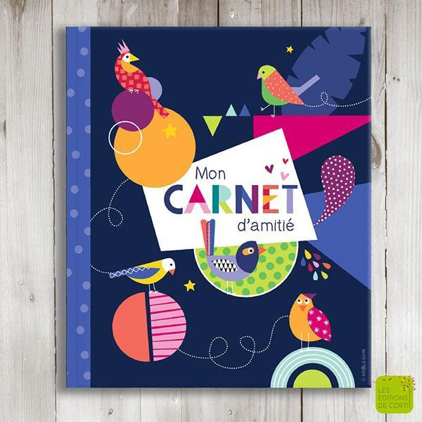 Carnet d'amitié - Oiseaux de paradis - CAR 731 - Carnets d'amitié au format 18 x 22 cm