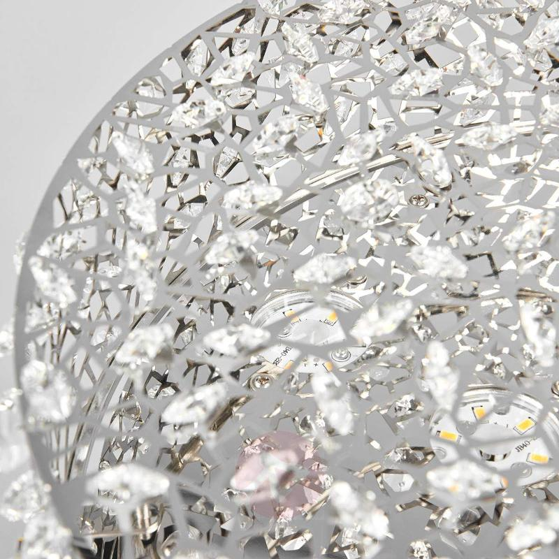 Crystal-studded LED ceiling light Kirika - Ceiling Lights
