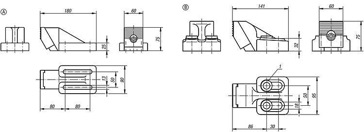 Butée de plaquage - Éléments de bridage et d'ajustement