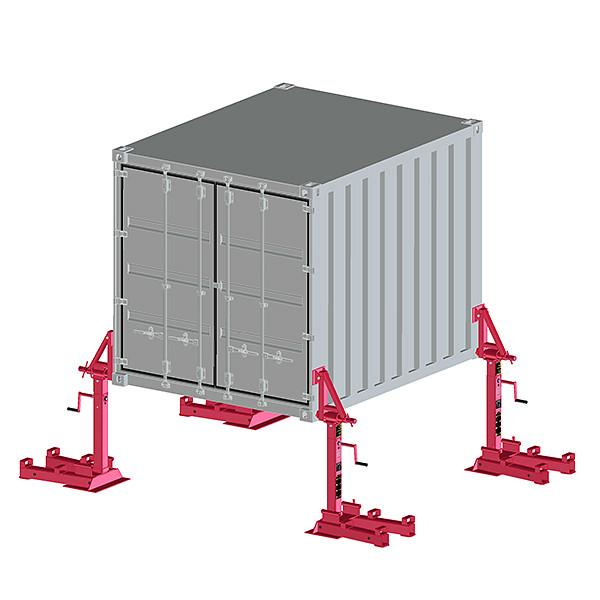 Container support device 32 t - Container support device 32 t for vehicles with air & steel suspension