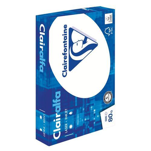 Ramette papier blanc - A4 80 g Clairefontaine Clairalfa - 500 feuilles