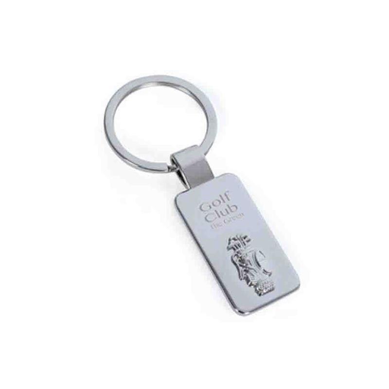 Porte-clés golf métal brillant - Porte-clés métal