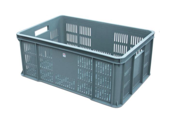 Plastic vegetable crate -