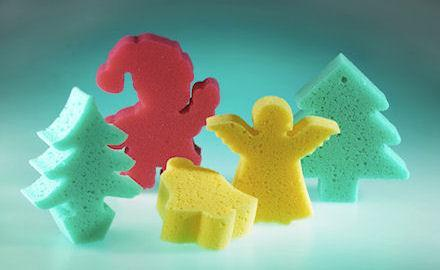 Advertising products - Motif sponges for seasonal promotions and special events