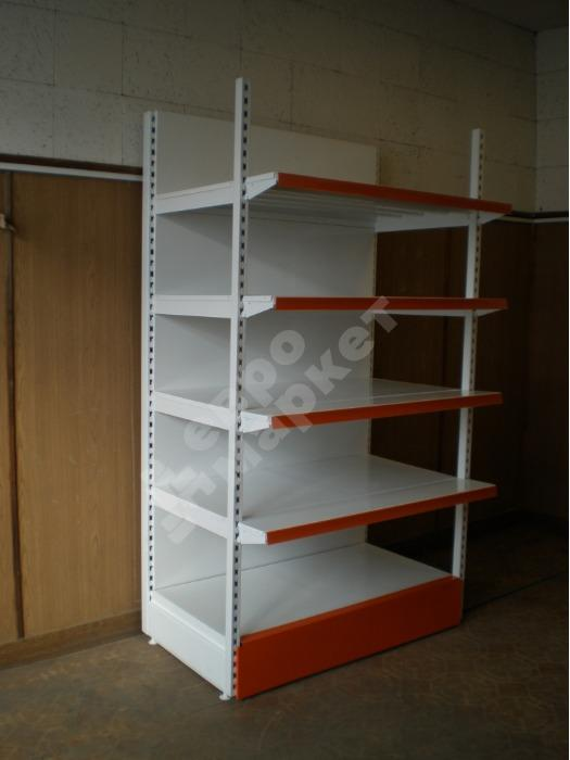 Shelving for shops  - Wall shelf stand with a front pillar