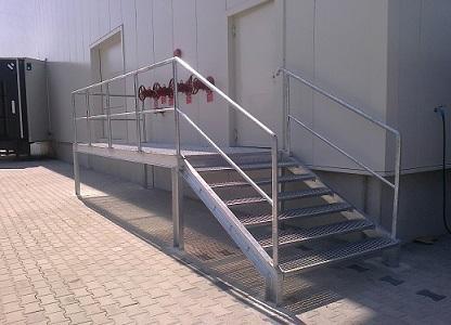 schody stalowe, podesty -