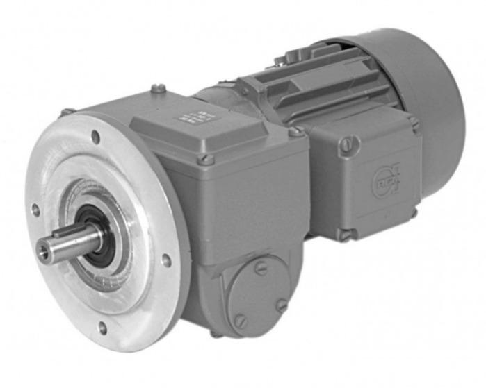 SN11F - Two-stage gear drive with solid shaft