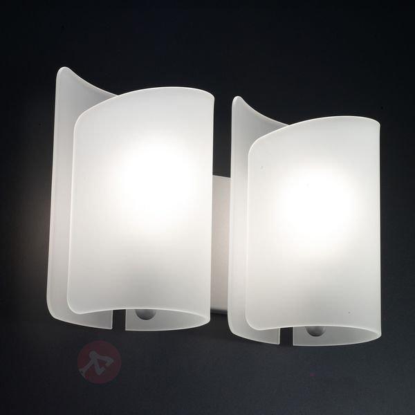 Magnifique applique à 2 lampes Papiro - Appliques en verre