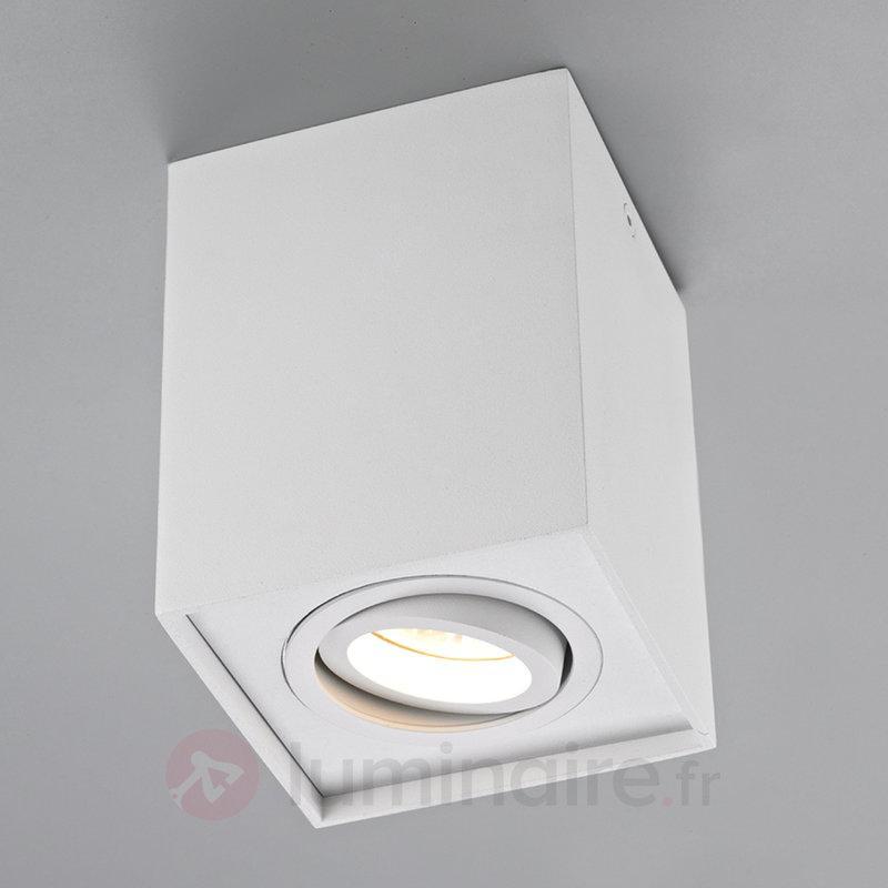 Spot de plafond rectangulaire GU10 Mikail blanc - Tous les plafonniers