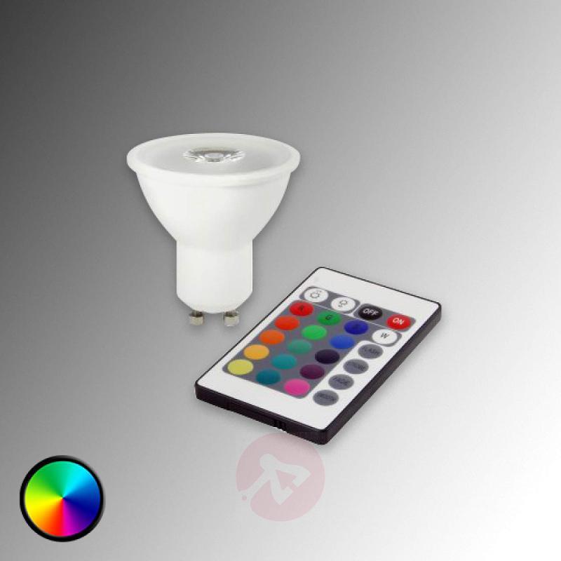 GU10 3W RGB HELSO LED Refl. with remote control - light-bulbs