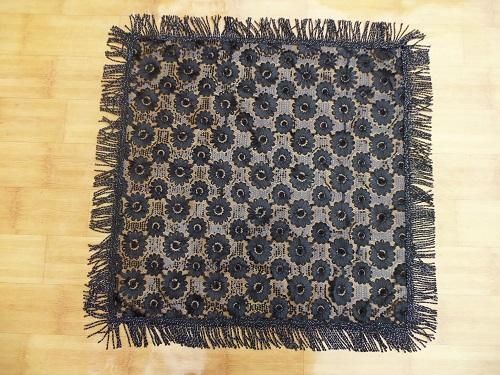 Middle-East style black craft tablecloth