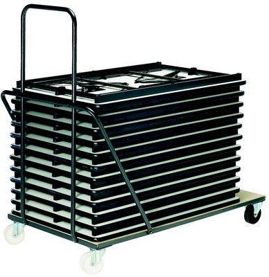 Chariot Tables Rimini 120 Cm 160 Cm 180 Cm - Tables De Collectivités
