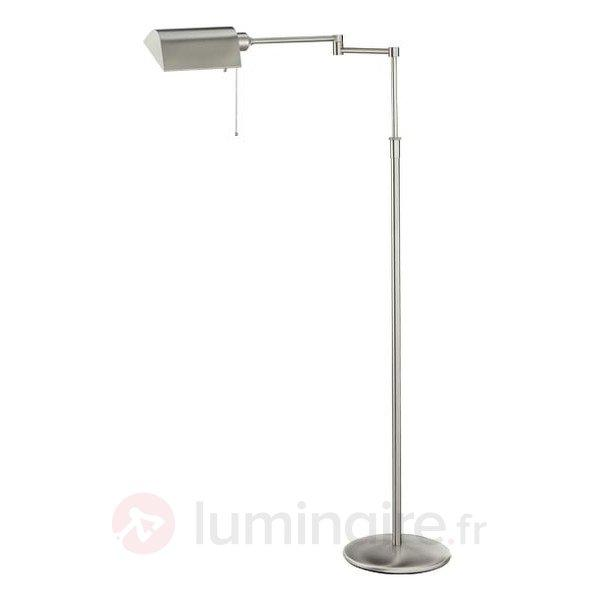 Lampadaire basse consommation DUNIA nickel - Tous les lampadaires