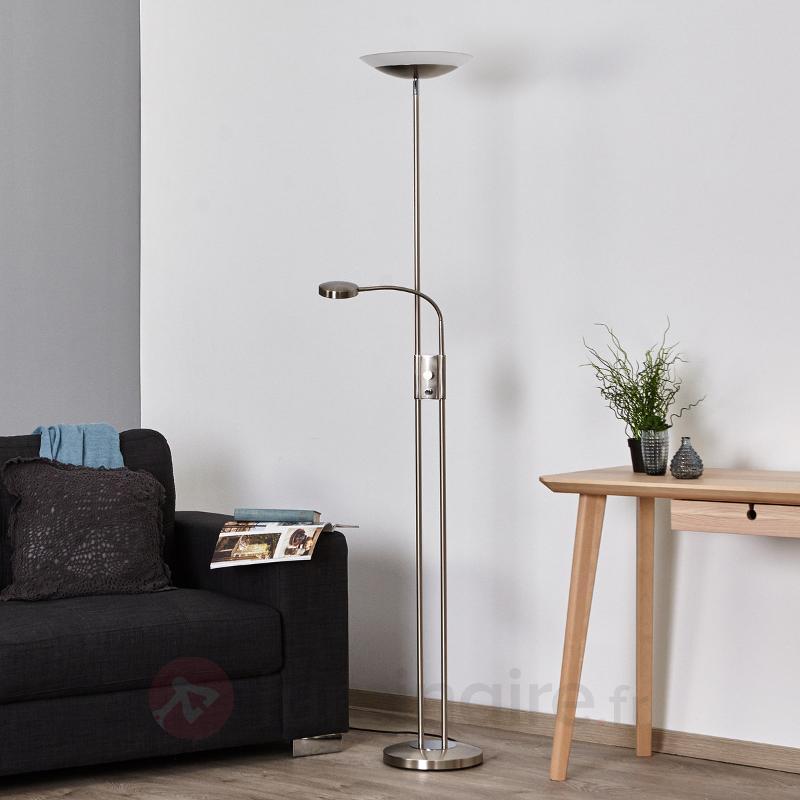 Lampadaire LED Olivia, intensité variable, liseuse - Lampadaires LED à éclairage indirect