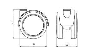 "Reinforced copolymer ""W"" type soft treads - CASTOR EMI Ø mm. 65 ""GEMIBASE"""