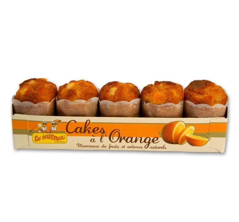 barquette de 5 cakes à l'orange - Épicerie sucrée