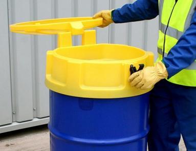 Entonnoir Avec Couvercle Pour Fut Et Grenouillere De Fermeture - BRP ENT-2-Cuves de récupération et stockage d'huiles usagées