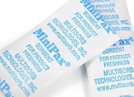 Silica Gel Sachets - MiniPax® Sorbent Packets - 0.25 grm, 0.50 grm, 1.0 grm, 2.0 grm, 3.5 grm