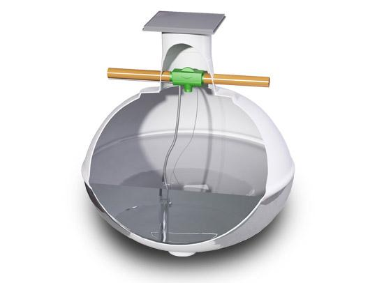 Récupérateur d'eau de pluie enterré