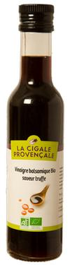 Vinaigre Balsamique BIO saveur Truffe  - 6 % d'acidité La Cigale Provençale