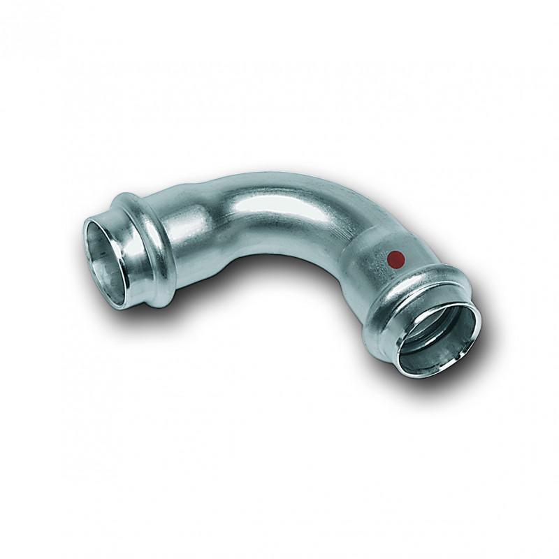 Bend 90, demale/female end - Stainless steel press fitting system NiroTherm®, AISI 304, EPDM