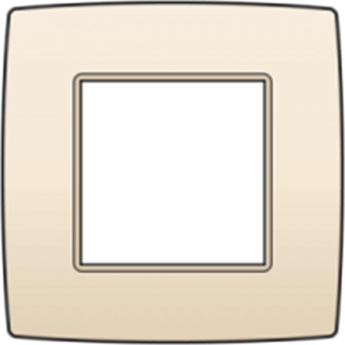 Plaque de recouvrement simple - cream - Interupteurs et prises