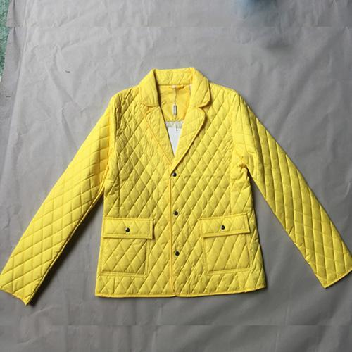 женские желтые хлопок-проложенные одежды -