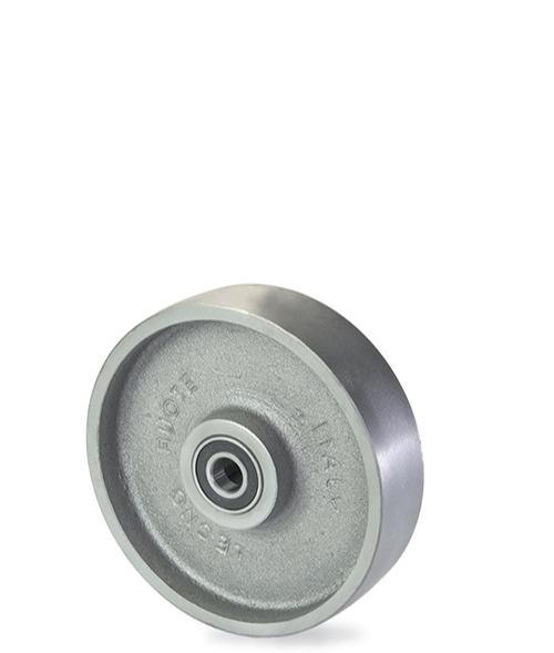 Ruota monolitica in ghisa meccanica - Serie extrapesante