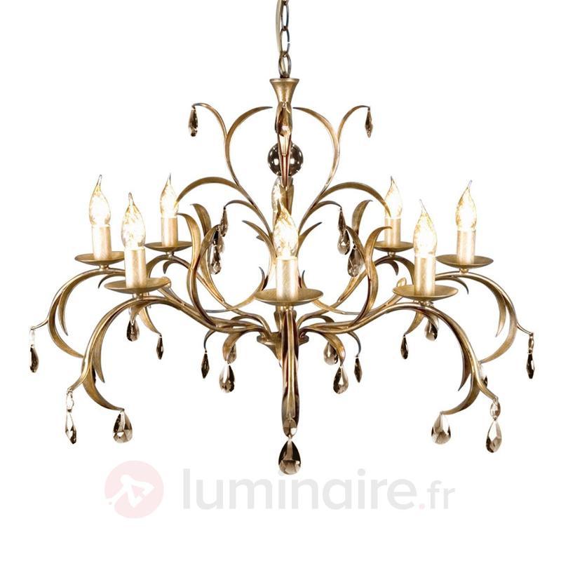 Lustre fantaisie LILY bronze métallisé