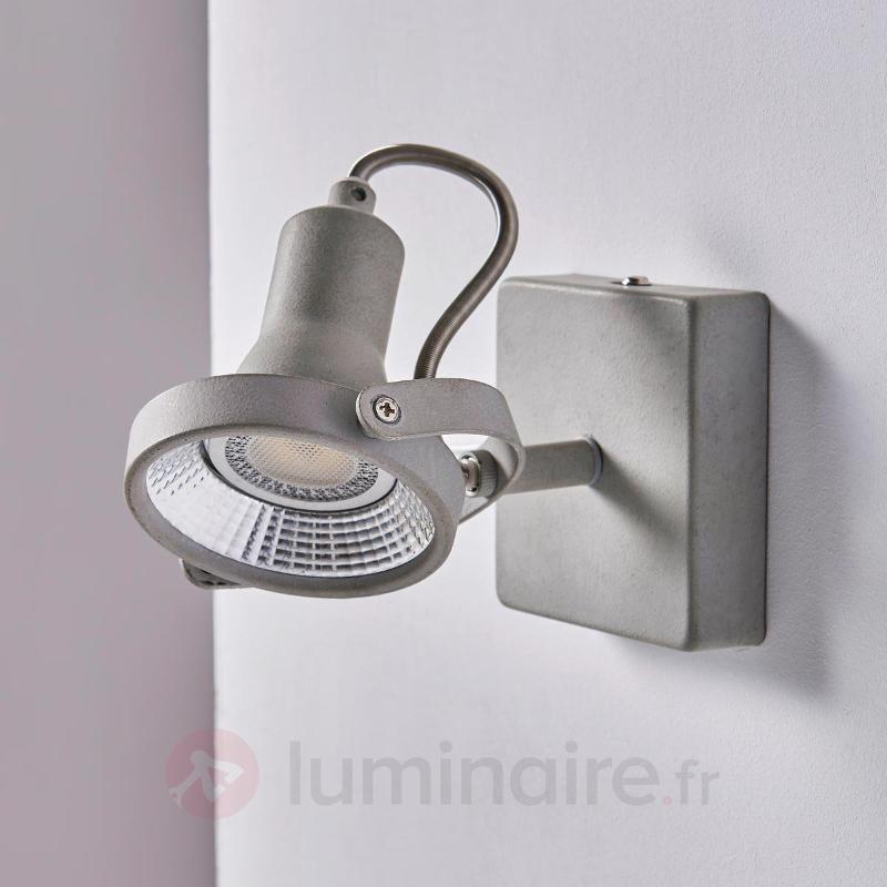 Spot LED réglable Pieter à aspect béton - Spots et projecteurs LED