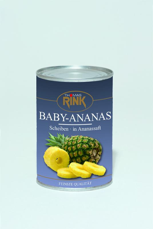 Baby-Ananas, 425 ml, in Ananassaft - null