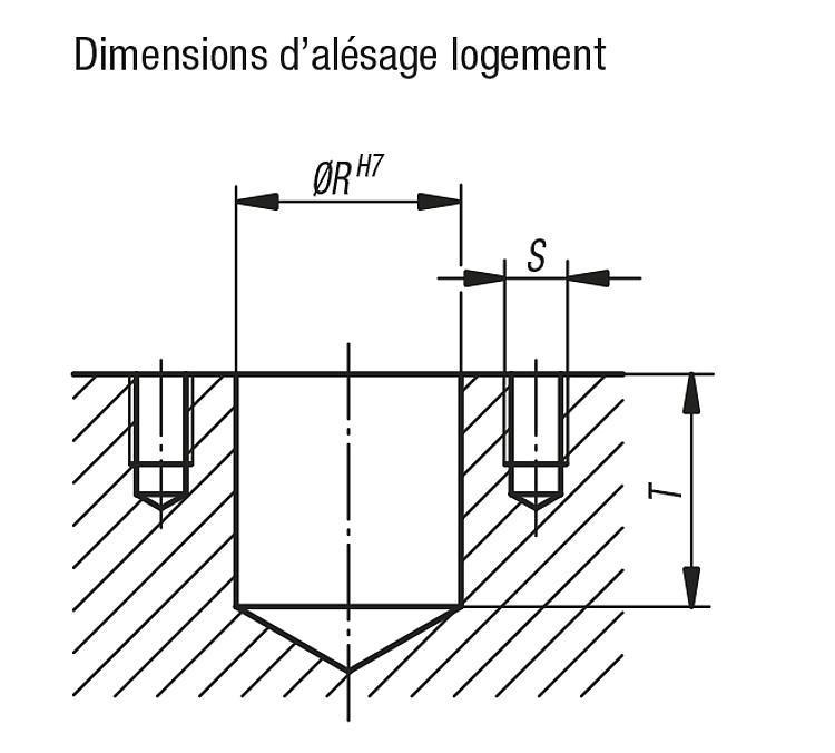 Unités de positionnement à ressorts avec cône - Éléments d'appui et de support