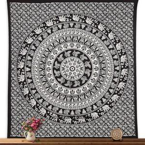 Black & White Wall Hanging Tapestry Double Size Wall Cotton
