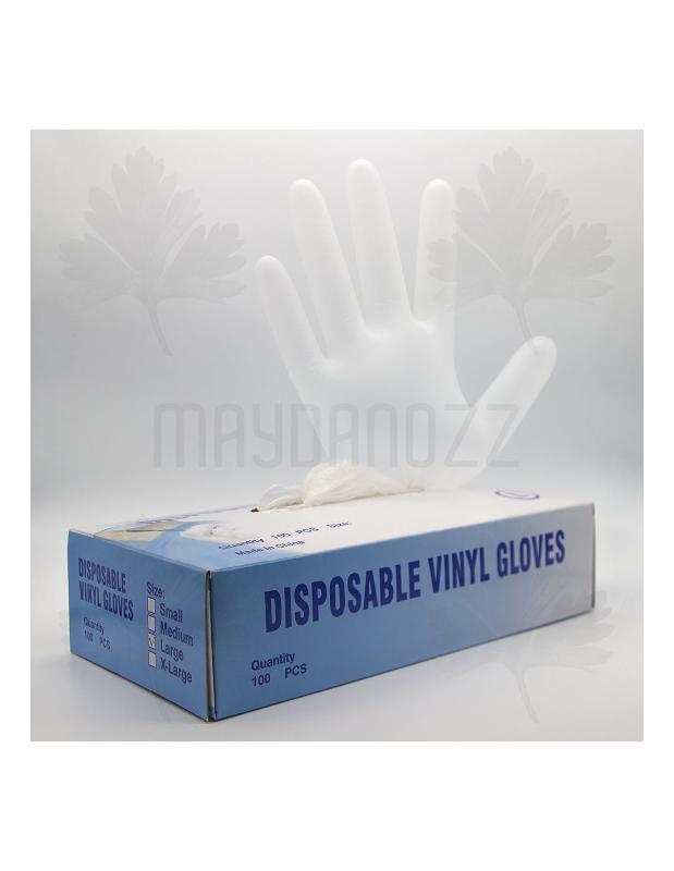 Gants Jetables En Vinyle - Boite De 100 - Gants