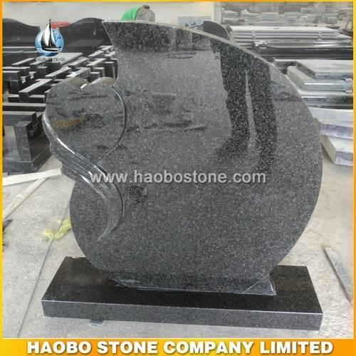 Dark Grey Granite Tombstone - Netherlands Style