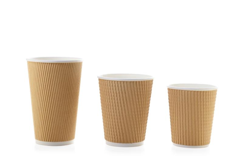 Crimped-paper cups for hot beverages - Paper cups for hot beverages
