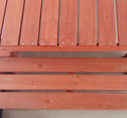 Customized wooden balcony - Wooden material