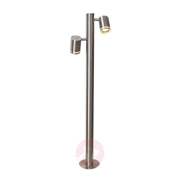 2-bulb Zilly II stainless steel path light - Path and Bollard Lights