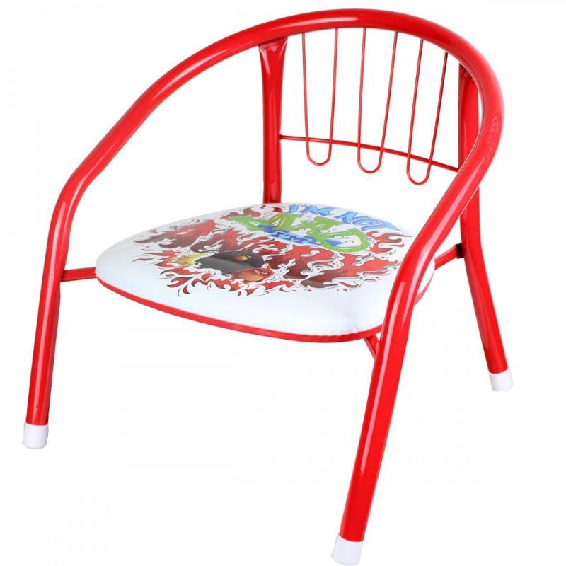 6x Chaises métallique Angry Birds 36x35x36 - Mobilier
