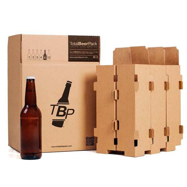 Cajas de cartón para botellas de cerveza - TotalBeerPack Standard 33cl, 50cl, 75cl