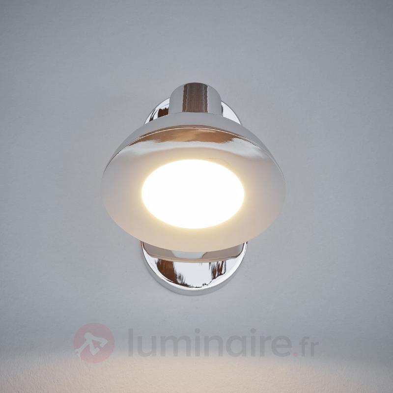 Spot LED Titania chromé, à une lampe - Spots et projecteurs LED