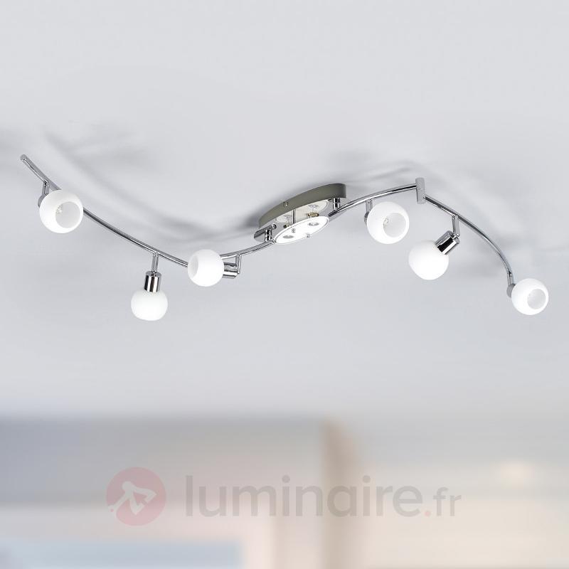 Plafonnier LED G9 à huit lampes Evaletta - Plafonniers LED