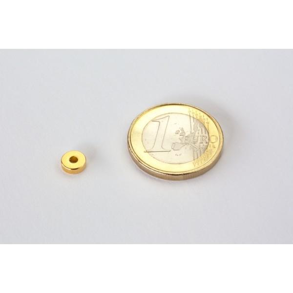 Neodymium ring magnet, 6/2mm, height 2mm, N45,... - null